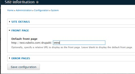 changing the content of your homepage in drupal 8