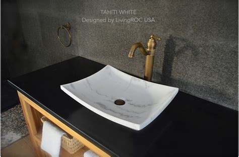 marble sinks bathroom 18 quot white marble vessel sink tahiti white