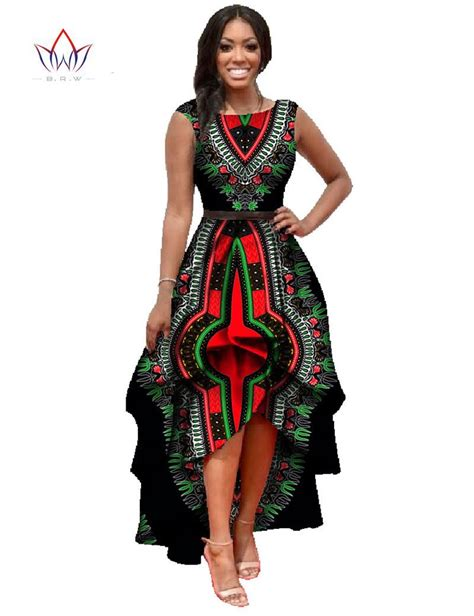african print dresses for women african dashiki ankara dresses with cascading ruffle