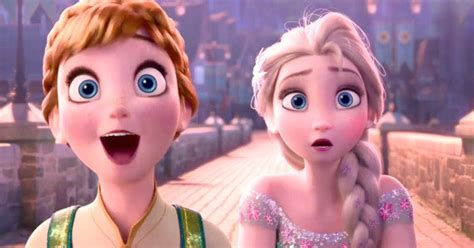 film elsa and anna disney s frozen fever trailer reunites anna and elsa