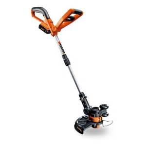 home depot weedeaters worx 10 in 20 volt lithium ion cordless grass trimmer