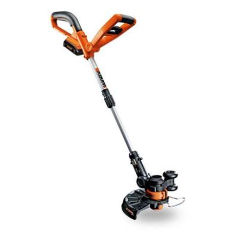 worx 10 in 20 volt lithium ion cordless grass trimmer