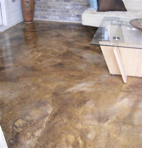 Acid Wash Concrete Floors by Welcome To Acme Decorative Concrete Stained Sted