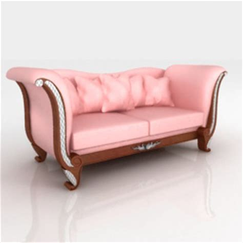 Free Sofas by European Beautiful Pink Sofa 3d Model 3d Model