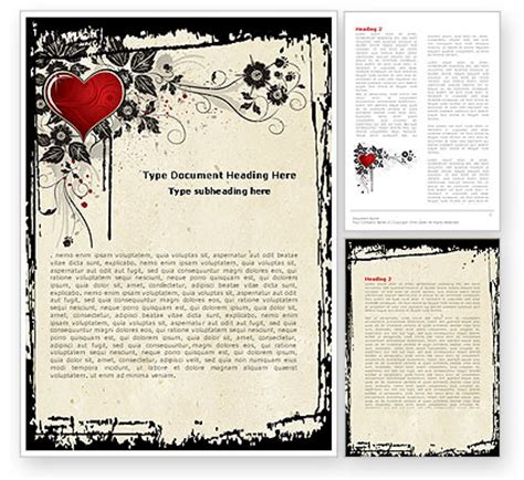 templates for word love love ornament word template 05050 poweredtemplate com