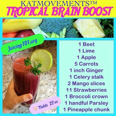Robb Fruit Detox Womans World by Juicing Vegetables Fruit Tropical Brain Boost With 11