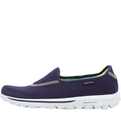 buy skechers womens go walk memory form fit shoes navy