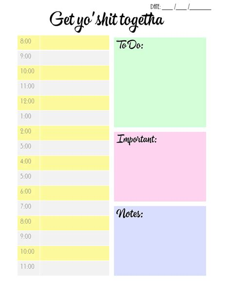 weekly schedule template with times listmachinepro com