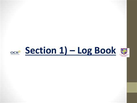 log book evaluation template