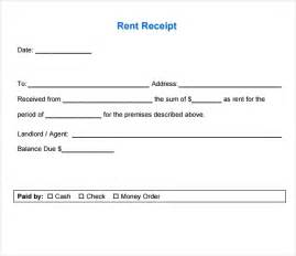 Template For Receipt by 6 Free Rent Receipt Templates Excel Pdf Formats