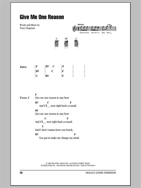 strumming pattern for you never let go tracy chapman give me one reason ukulele with strumming