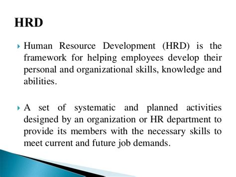 Human Resource Development Notes For Mba human resource development introduction