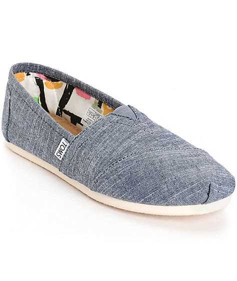 Toms Classic toms classic blue chambray womens shoes at zumiez pdp