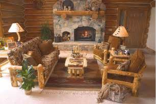 Cabin Living Room Furniture by Home Decorations Rustic Decor Living