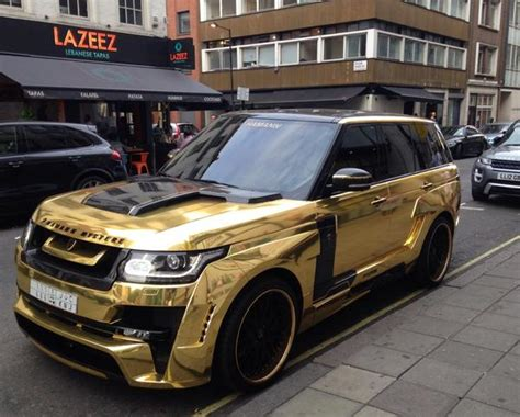 black and gold range rover is this britain s most flamboyant tourist owner of gold