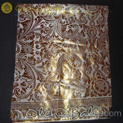Kipas Prada Bali kain prada bun putih