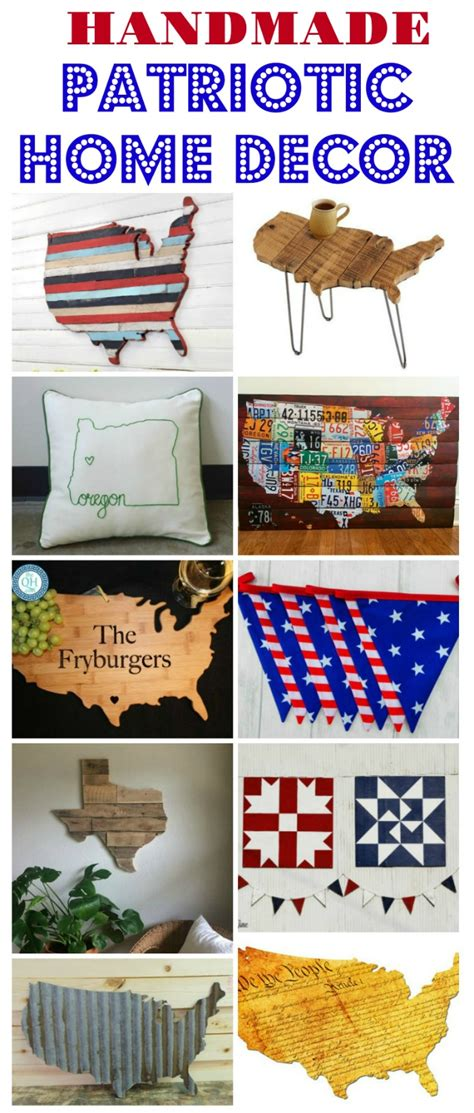 handmade united states patriotic decor creative ideas