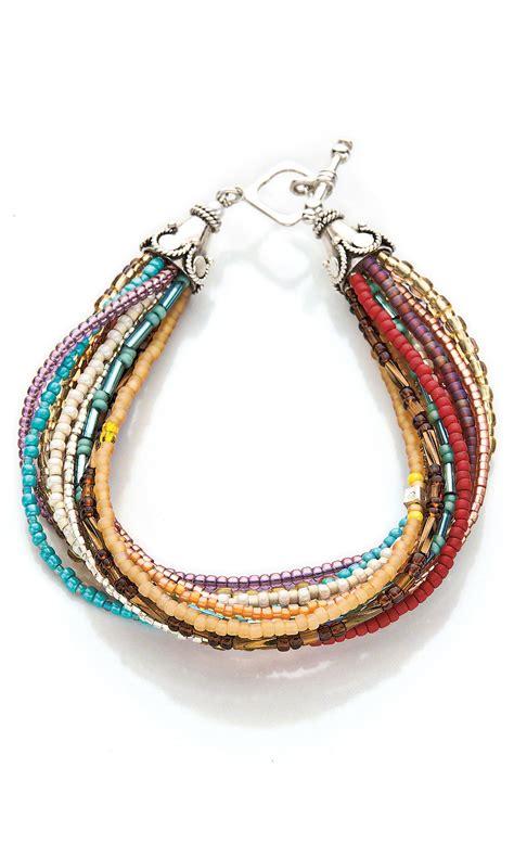 jewelry design multi strand bracelet with seed