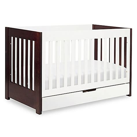 Mercer 3 In 1 Convertible Crib Buy Babyletto Mercer 3 In 1 Convertible Crib In White Espresso From Bed Bath Beyond