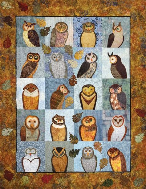 Owl Patchwork Patterns - outstanding owls applique quilting book by