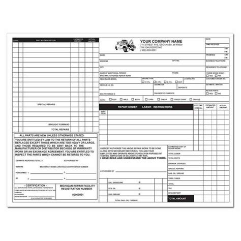 work order template for quickbooks template styles from word quickbooks learn auto repair