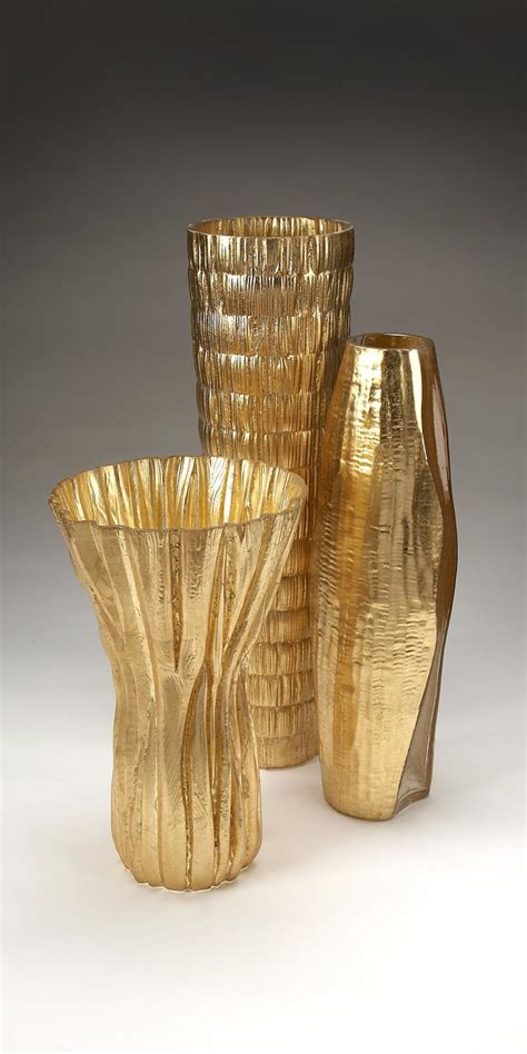 Gold Vases by Gold Vases Distinct And Rich In Decors