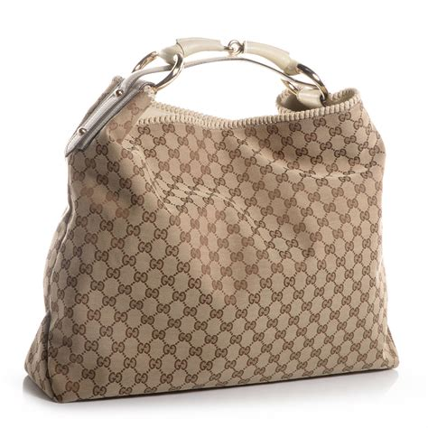 Gucci Chain Large Hobo by Gucci Monogram Large Horsebit Chain Hobo White 67779