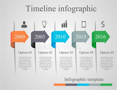 infographics arrow timeline template stock vector