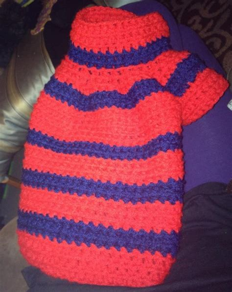 crochet pattern for xxl dog sweater red and blue crochet dog sweater crochet pinterest
