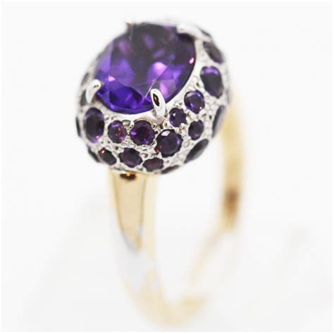 pomellato italia pomellato tabou ring purple amethyst gold silver italian