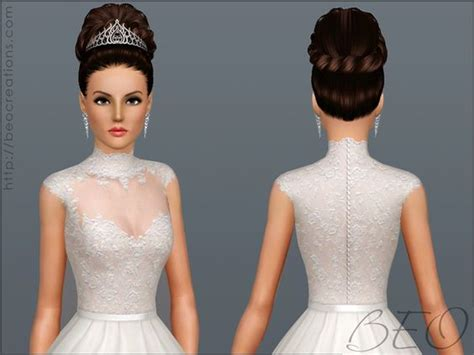wedding hair the sims 3 wedding dress 27 by beo sims 3 downloads cc caboodle