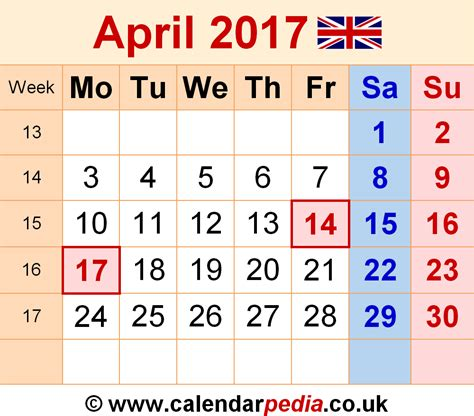 bank march march 2017 calendar with holidays uk monthly calendar 2017