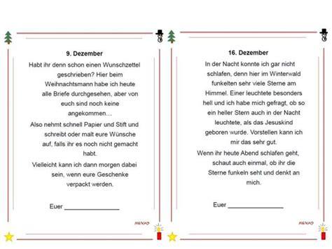 Brief Weihnachtsmann Schweiz Unterrichtsmaterial 220 Bungsbl 228 Tter F 252 R Die Grundschule Adventskalender Briefe Aus Dem