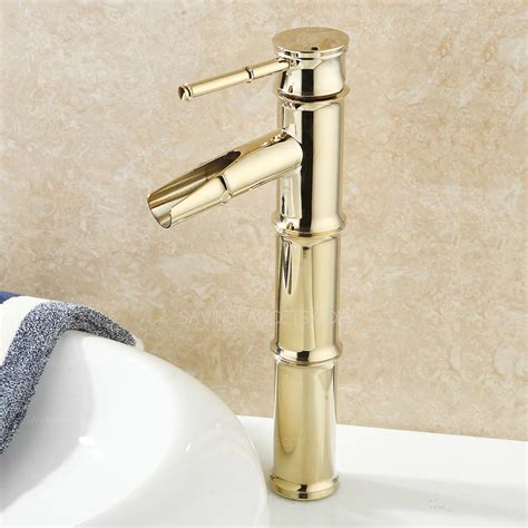 designer faucets bathroom designer bamboo shape polished brass bathroom sink faucets