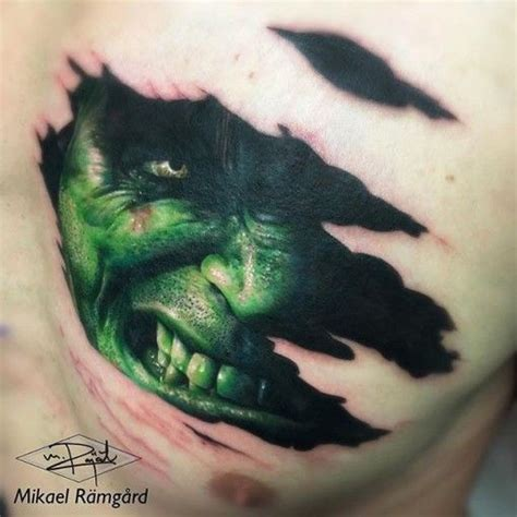 incredible hulk tattoos 25 best ideas about on