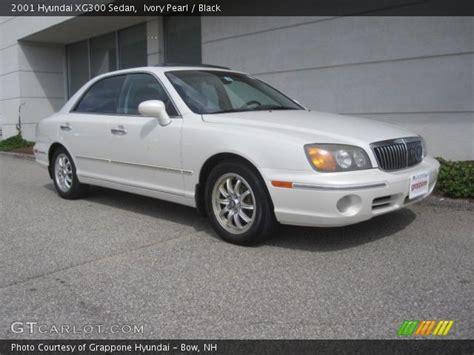 ivory pearl 2001 hyundai xg300 sedan black interior