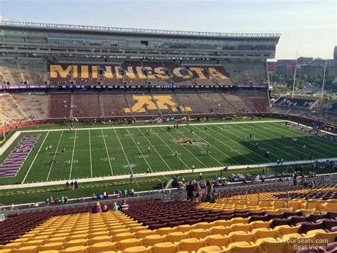 bank sections tcf bank stadium section 213 minnesota football