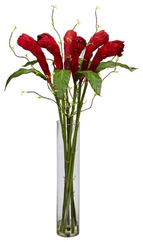 Silk Flowers In Vase Arrangements by W Cylinder Vase Silk Flower Arrangement Modern Artificial Flower Arrangements By