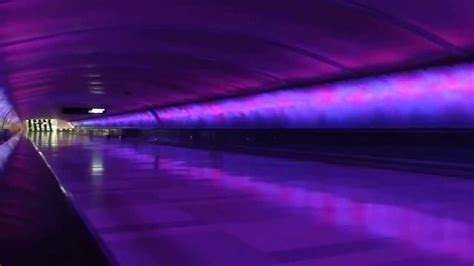 detroit airport light tunnel detroit airport terminal connecting light tunnel