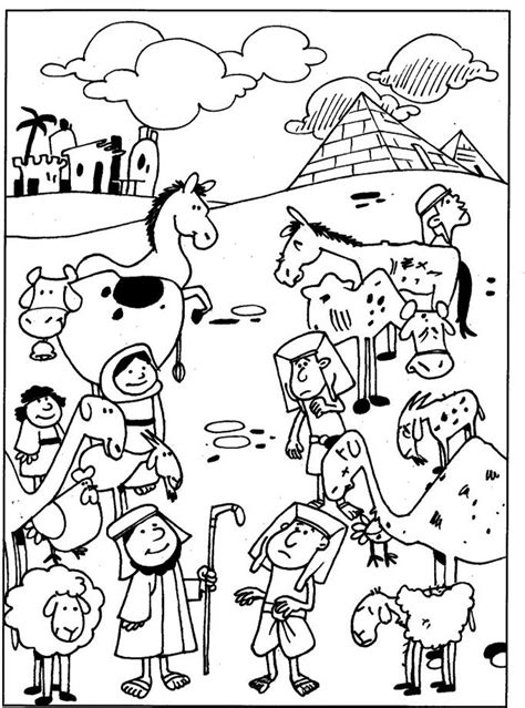 bible coloring pages plagues of egypt plagues of egypt diseased animals bible ot the ten