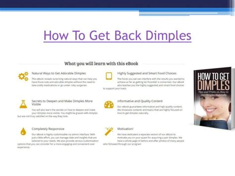 how to get ppt how to get dimples naturally powerpoint presentation