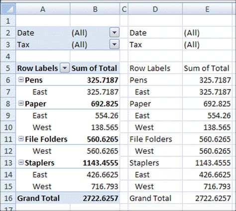 copy pivot table values and formats excel pivot