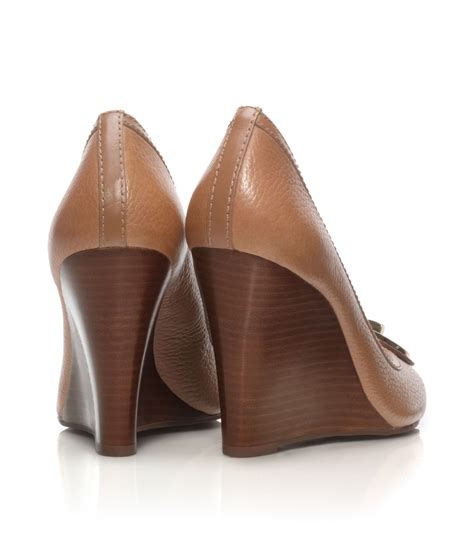 Selma Wedges Beige Moka lyst burch selma open toe wedge in brown