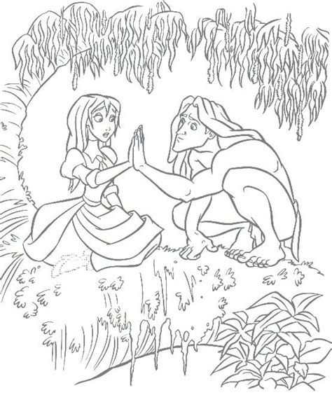 free coloring pages of tarzan and jane