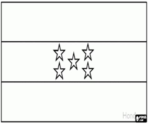 Flags Of Countries Of America Coloring Pages Printable Honduras Flag Coloring Page