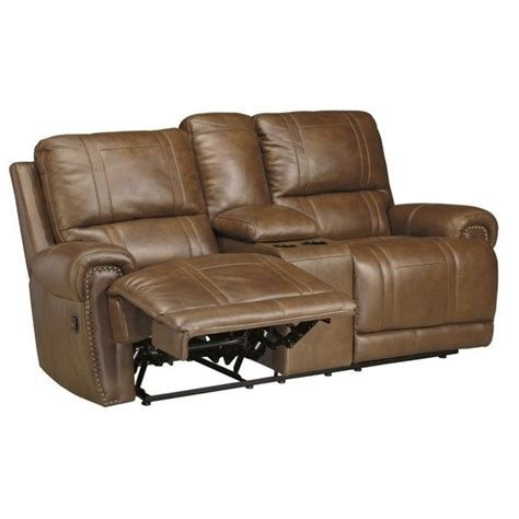 ashley dual reclining sofa signature design by ashley furniture paron double leather