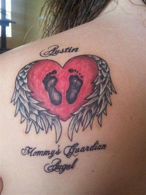 tattooed heart minus one 30 inspiring miscarriage tattoos angel baby memorial