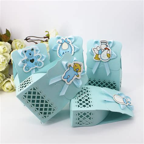 Birthday Giveaways For Baby Boy - cute baby shower event party supplies decoration boy paper baptism blue kid favors