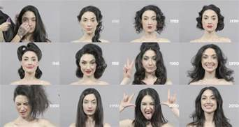 hairstyles through the years 100 years of changing beauty makeup and hairstyles in 1 minute my modern met