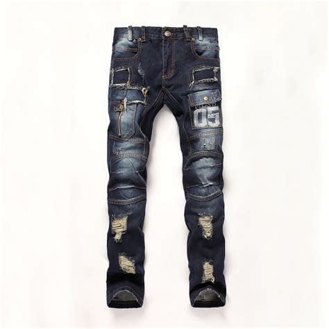 jeans style 2015 men 2015 mens fashion jeans men pants ripped male denim biker